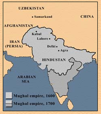 Map of the Mughal Empire