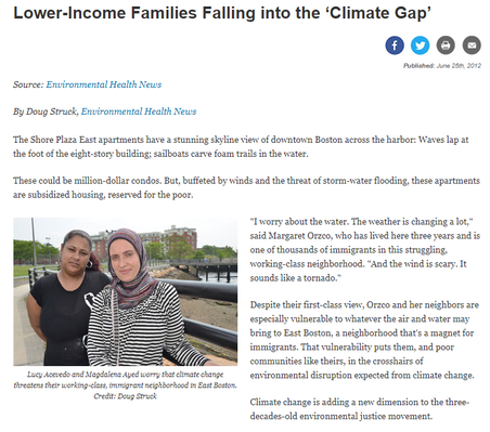 Lower Income Families Falling into the Climate Gap