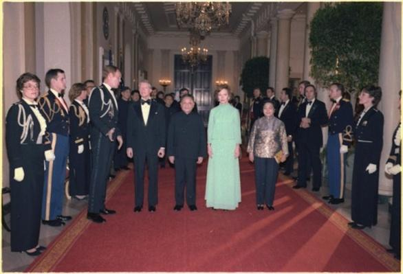 Carters with Deng Xiaoping and Madame Zhuo Lin