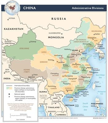 Map of China - Administrative Divisions