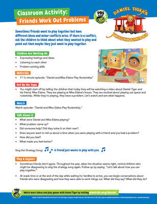 Classroom Activity: Friends Work Out Problems | Daniel Tiger's Neighborhood