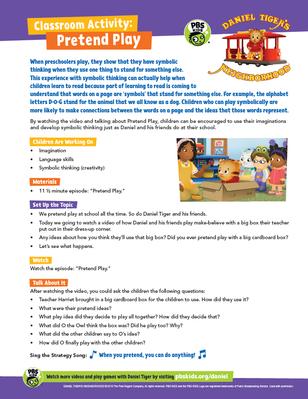 Classroom Activity: Pretend Play | Daniel Tiger's Neighborhood