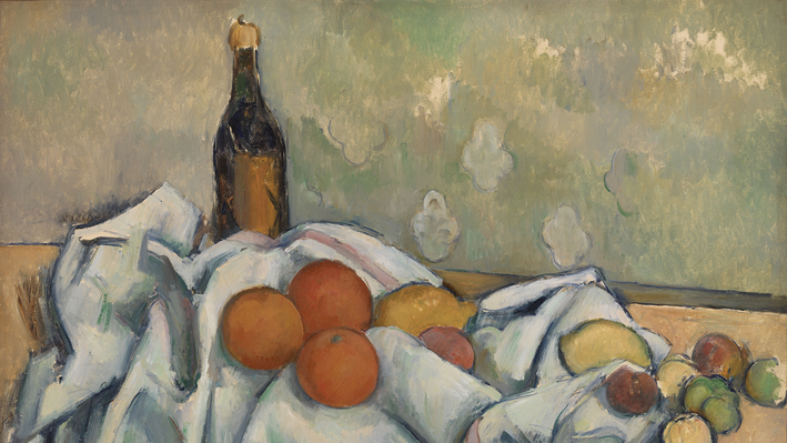 Bottle and Fruits (Bouteille et fruits), Paul Cézanne