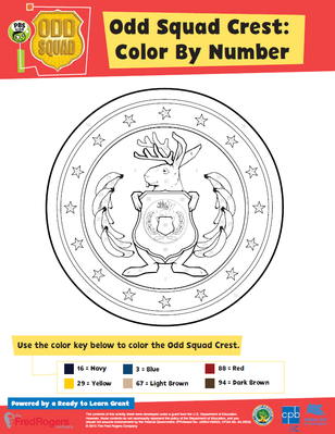 Color By Number - Odd Squad  | Be the Agent Camp