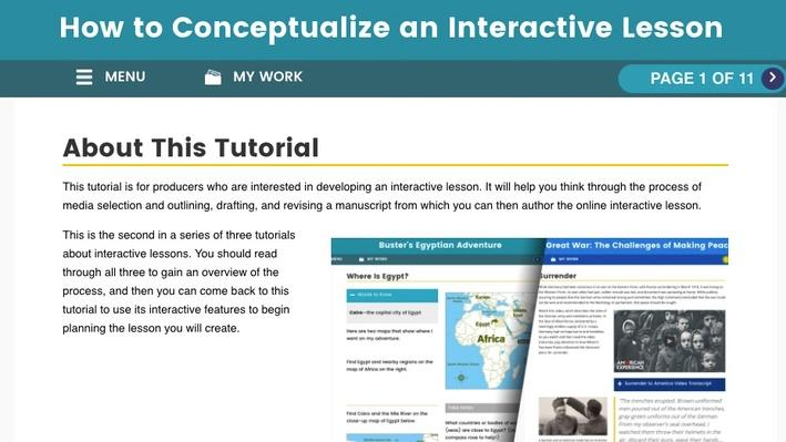 How to Conceptualize an Interactive Lesson