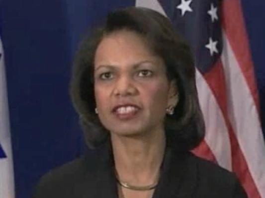 Condoleezza Rice in Jerusalem