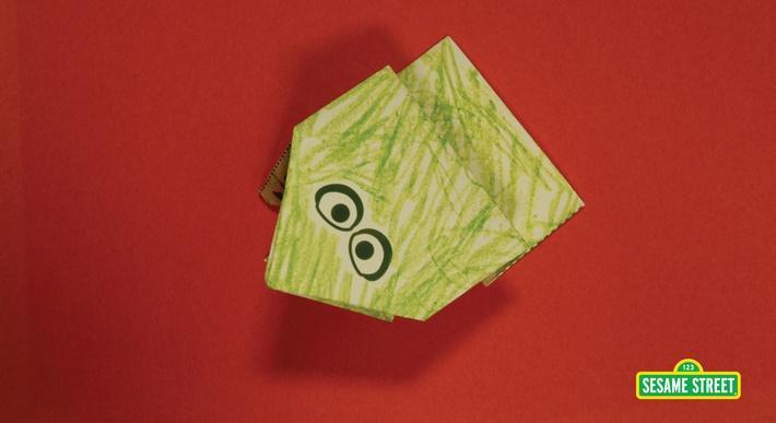 Jumping Fold a Frog Craft | Sesame Street