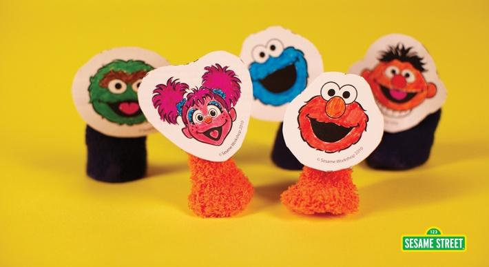 Mini Muppet Finger Puppets Craft | Sesame Street
