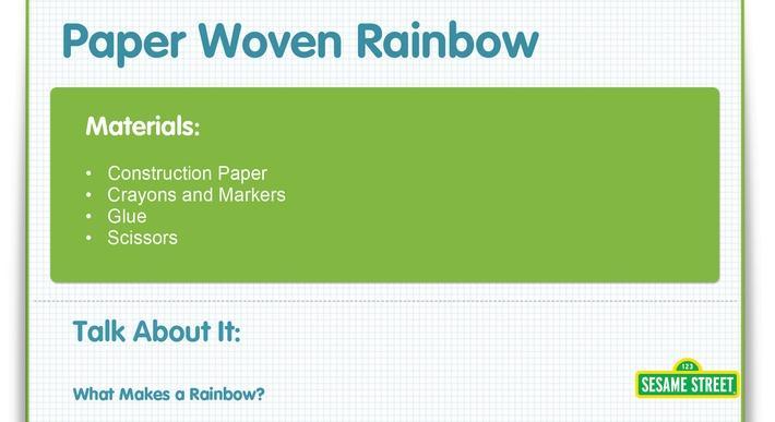 Paper Woven Rainbow Craft | Sesame Street