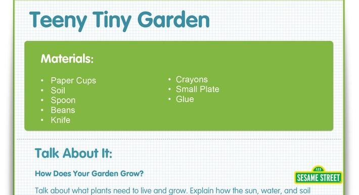 Teeny Tiny Garden Craft | Sesame Street