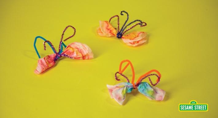Watercolor Butterflies Craft | Sesame Street