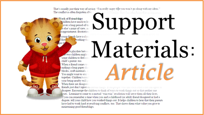 Article: Routines Help Children Manage | Daniel Tiger's Neighborhood
