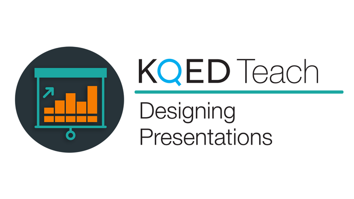 KQED logo with text designing presentations
