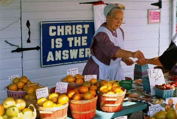 Amish mennonite produce stand, Sarasota, Florida, USA | World Relgions: Christianity