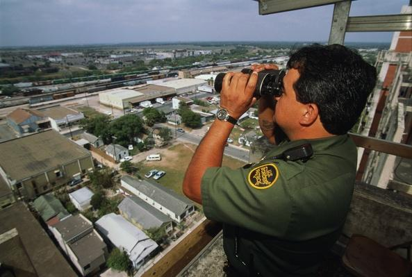 US Border Patrol officer at work beside US/Mexican border | U.S. Immigration | 1840's to present | U.S. History