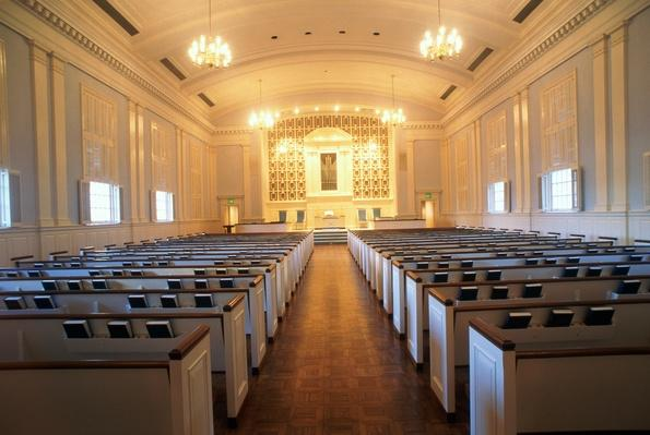 USA, Texas, Dallas, Park Cities Baptist Church, interior view | World Relgions: Christianity
