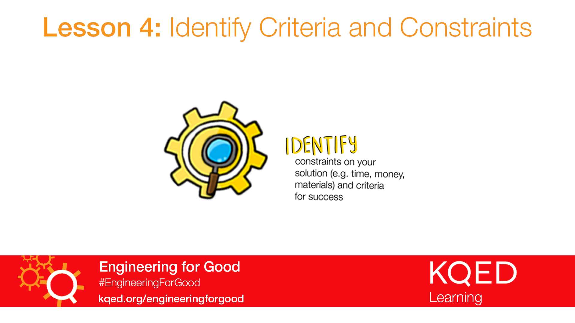 Identify Criteria And Constraints Engineering For Good Pbs Learningmedia