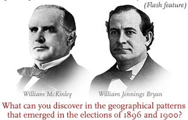 The Elections of 1896 and 1900: Interactive Map | A Biography of America