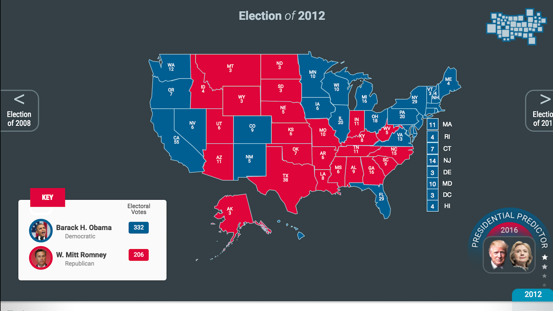 Us Interactive Election Map PBS Electoral Decoder | PBS LearningMedia