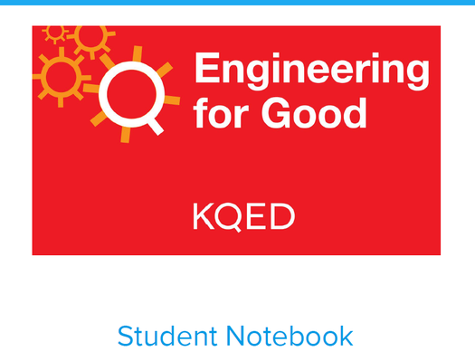 Engineering for Good Student Notebook | Engineering for Good