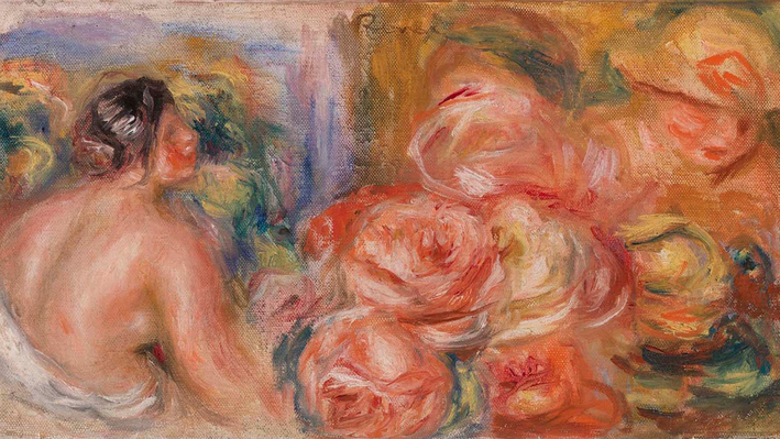 Roses and Small Nude (Roses et petit nu), Pierre-Auguste Renoir