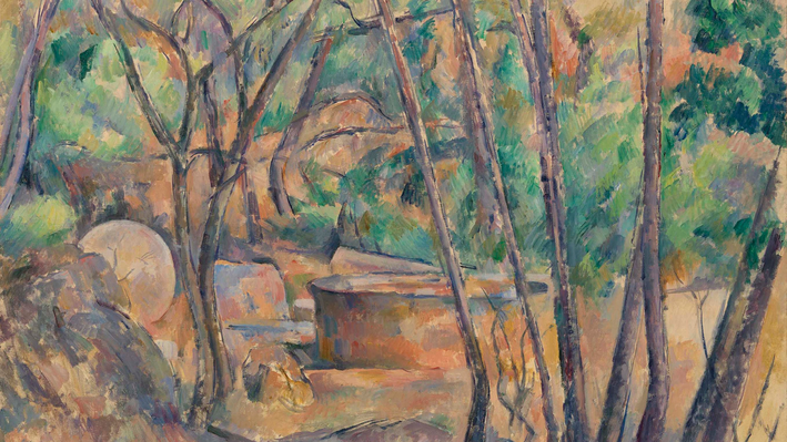 Millstone and Cistern Under Trees (La Meule et citerne en sous-bois), Paul Cézanne