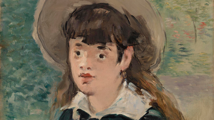 Young Girl on a Bench (Fillette sur un banc), Édouard Manet