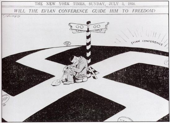 Responses to the 1930s Refugee Crisis | Political Cartoon, 1938 | Defying the Nazis: The Sharps' War