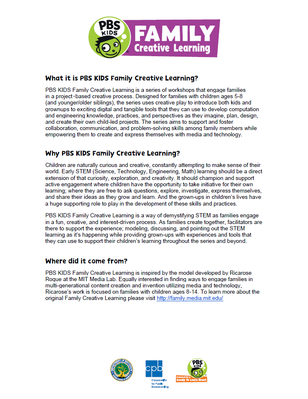 One Pager - Family Creative Learning | RTL 2015-2020