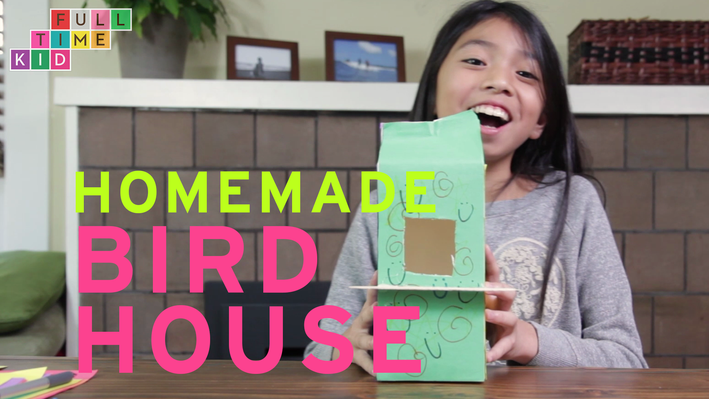 Homemade BIRD HOUSE | Full-Time Kid