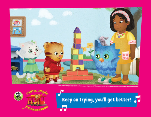 Family Activity: Persistence | Daniel Tiger's Neighborhood