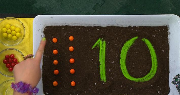 Chiffre 10 orange | Fleurette et les chiffres