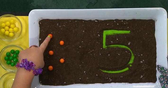Chiffre 5 orange | Fleurette et les chiffres