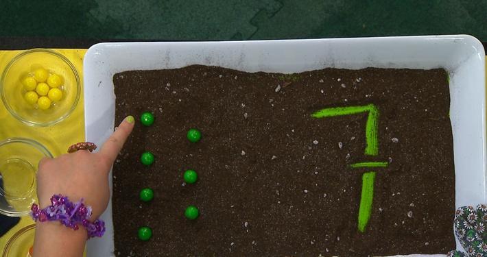 Chiffre 7 vert | Fleurette et les chiffres