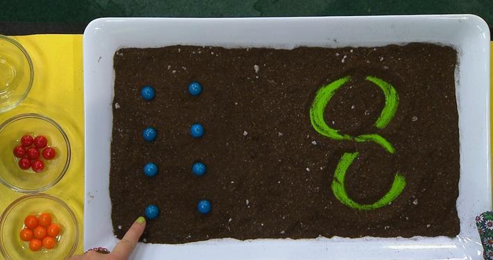 Chiffre 8 bleue | Fleurette et les chiffres