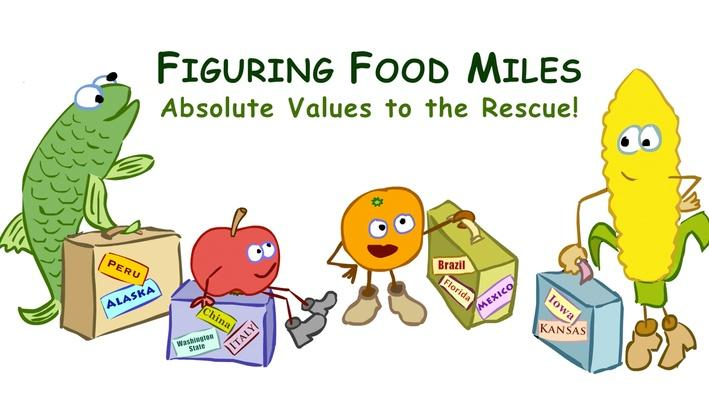 Food Miles: Absolute Values to the Rescue
