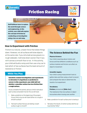 Friction Racing - Activity PDF | Science Crafts for Kids