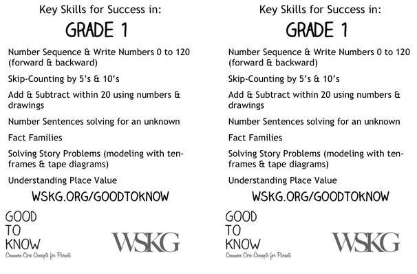 Key Math Skills | Grade 1