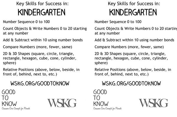 Key Math Skills | Kindergarten