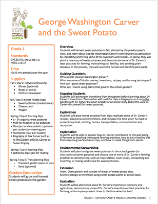 George Washington Carver and the Sweet Potato | Project Learning Garden