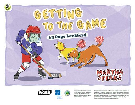 Getting to the Game PDF | Martha Speaks - pdf