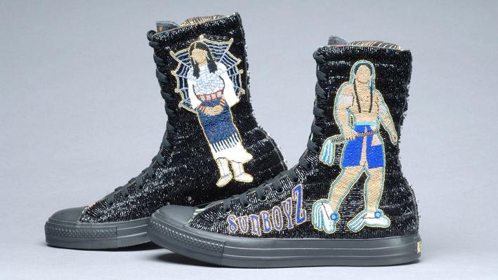 Teri Greeves, Beaded Sneakers | Craft in America