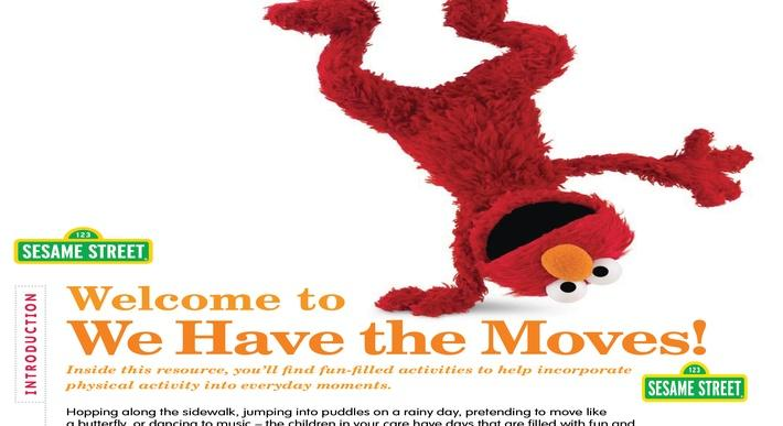We Have the Moves! Physical Activity Resource | Sesame Street