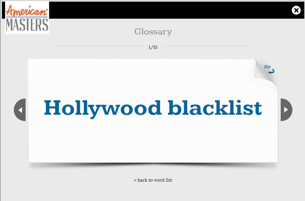 HUAC and Hollywood: Flashcards