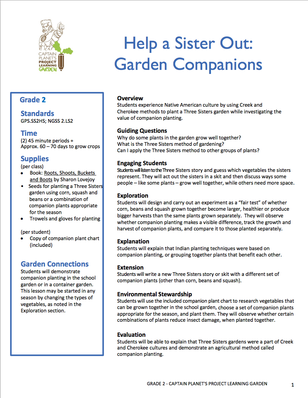 Help a Sister Out: Garden Companions | Project Learning Garden