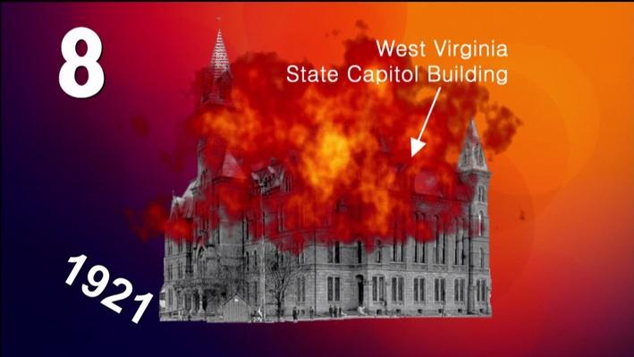 West Virginia History in 10 Seconds l Capitol Fire