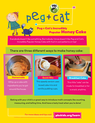 Peg + Cat's Incredibly Popular Honey Cake Recipe | Peg + Cat