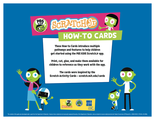 How-To Cards - PBS KIDS ScratchJr | RTL 2015-2020