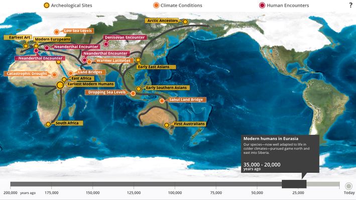Interactive Human Migration Map