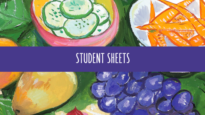 Curriculum Student Sheets | In Defense of Food